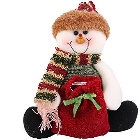 Bolsa de Caramelo Regalo Muñeco de Nieve Decoración Adorno para Navidad Fiesta