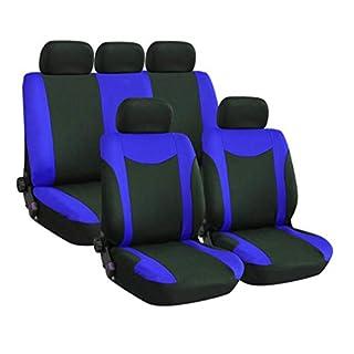 YZ-YUAN 9pcs Universal Sitzbezügesets Autositzkissen Auto Innendekoration Schutz der Abdeckungen für Vier Jahreszeiten,Blue
