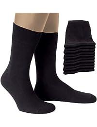 ALL ABOUT SOCKS 10er-Pack PREMIUM Socken Herren & Damen - atmungaktive Baumwolle - Hergestellt in Europa - Schwarz, Blau & Grau und Gerippt