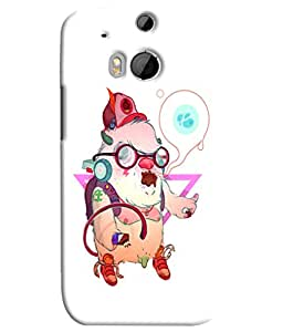 Blue Throat Animal Listening Music Printed Designer Back Cover/ Case For HTC One M8