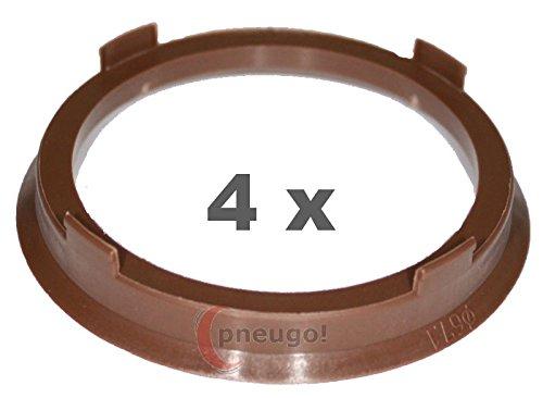 Preisvergleich Produktbild 4 x Zentrierringe,  Kunststoff 67.1mm auf 57.1mm braun