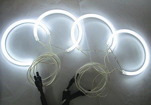 Preisvergleich Produktbild 602258911512 Halo Ring CCFL Angel Eye Kit 4 x 131 mm 6000 K Helle CCFL LED-Leuchten Auto Scheinwerfer