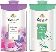 Yardley London Morning Dew Perfumed Talc for Women, 250g & Yardley London Imperial Jasmine Perfumed Talc for Women, 250g
