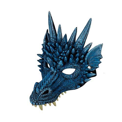 Oyedens Halloween Maske Led Halloween Drachenmaske Halloween Cosplay Scary Mask Kostüm für Erwachsene Party Dekoration Requisiten - Scary Kostüm Zum Verkauf