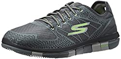 Skechers Mens Go Walk Flex Charcoal and Lime Nordic Walking Shoes - 8 UK/India (42 EU)(9 US)
