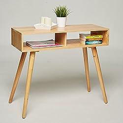 Mesa consola/tocador/escritorio-madera de pino maciza-90x 35x 78cm, aparador modern escandinavo diseño retro look