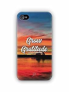 YuBingo Grow Gratitude Designer Mobile Case Back Cover for Apple iPhone 4