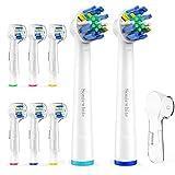 Aufsteckbürsten für Braun Oral-B Zahnbürsten kompatibel FlossAction SEB25 Ersatzbürstenköpfe , durch SoniWhite®