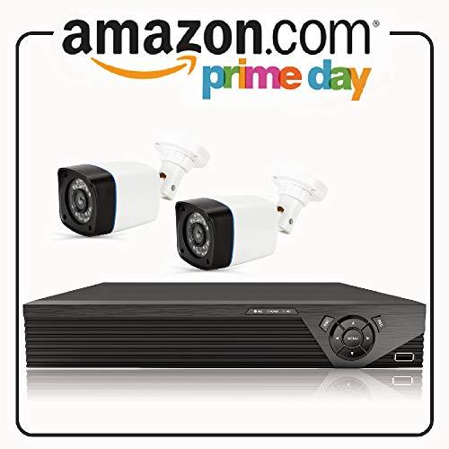 Anni CCTV Kameras System 4CH 1080p DVR Kit Recorder, 2X 720p in/Outdoor Kugelkamera, 25M Nachtsicht, Allwetter Adaption Home Sicherheitskamera Systeme, Unterstützung AHD/TVI/CVI/Analog/IP Kamera Dvr Security System