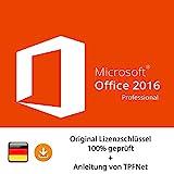 Microsoft® Office 2016 Professional 32 bit & 64 bit Vollversion Original Lizenzschlüssel per E-Mail und Post + Anleitung von TPFNet - Versand maximal 60Min