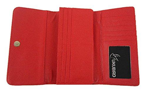Kukubird Premio Joanne Dichiarazione Blocco Modello Portafoglio Grandi Dimensioni Signore Prom Partito Borsa Pochette Red