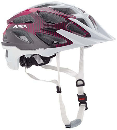 ALPINA Damen Mythos 3.0 Fahrradhelm, White-Purple-Titanium, 52-57 cm