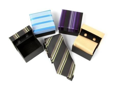 Lote de 20 Set de Corbata Normal + Gemelos En Estuche de Regalo