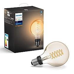 Philips Lighting Hue Weißes Filament G93 Glühlampe mit angeschlossenem Flansch, dimmbar, E27, 7 W, 550 lm, 1 Stück