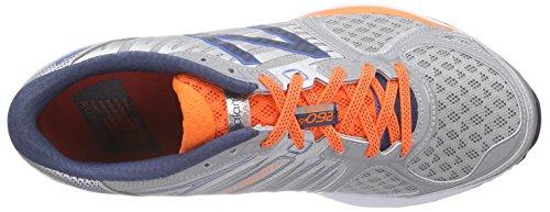 New Balance W1260v5, Chaussures de Running Compétition Homme Argent - Silber (Silver/Orange/Blue)