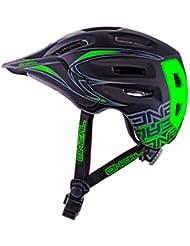O'Neal Defender Tribal Casco de Bicicleta, Negro / Verde, L (59-61 cm)