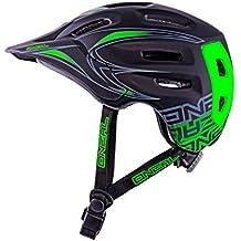 O'Neal Defender Tribal Casco de Bicicleta, Negro / Verde, M (56-59 cm)