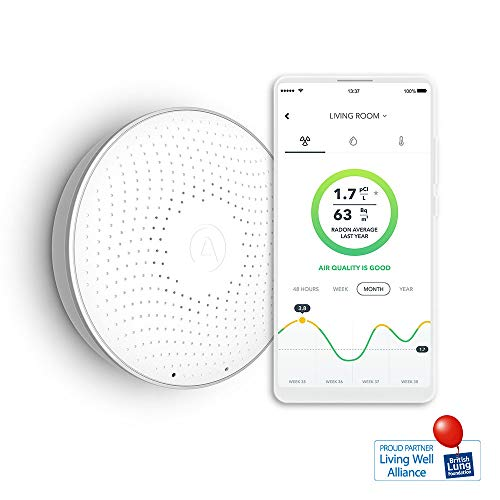 Airthings Wave Smart Rilevatore di radon, Bianco