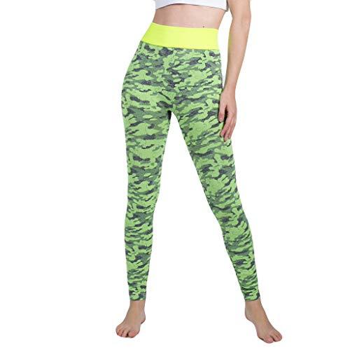 Jersey Yoga Capri Pant (Yogahosen Camouflage Damen Nahtlose Frauen gestrickte Yogahosen Hose mit Nahtloser Hose Gamaschen Elastische Hose Hohe Taille Capris Sporthosen Große Größen)