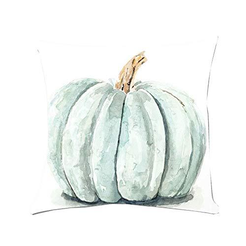 Tatis Kissenbezug Halloween-Thema-Gewohnheit Druckte Kürbismuster-Aquarellart Dekorativer Kissenbezug Super Weiche Kissenbezug Abdeckung Bauernhaus Chic Land Kürbis 18