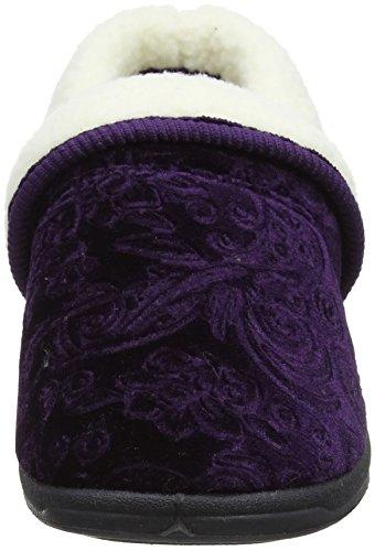 Lotus Damen Wilsson Niedrige Hausschuhe, Navy Violett (Violett)