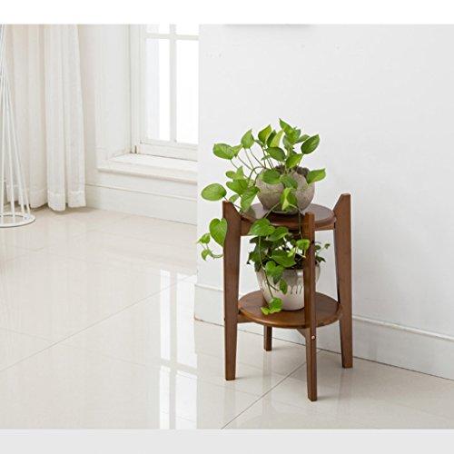Pots en bambou chinois bambou fleur pots étagères étagères salon vert radis bois bois en bois à plusieurs étages balcon (taille : 58cm)
