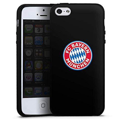 DeinDesign Silikon Hülle kompatibel mit Apple iPhone 5 Case Schutzhülle FCB Logo FC Bayern München