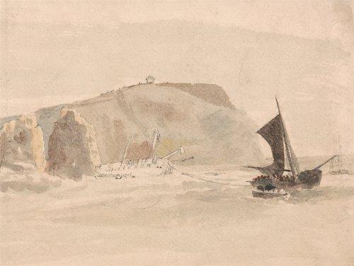 Peter De Wint naufragio Off gli aghi, Isola di Wight Riproduzione poster su 200g/mq, formato (Amsterdam Isola)