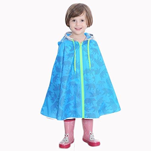 Raincoat Kinder Baby Regenmantel, Jungen und Mädchen Regenmäntel Kindergarten Kinder Poncho Student lange tragbare Mode transparent im Freien wasserdichte Regenjacke (Farbe : D, größe : XXL)