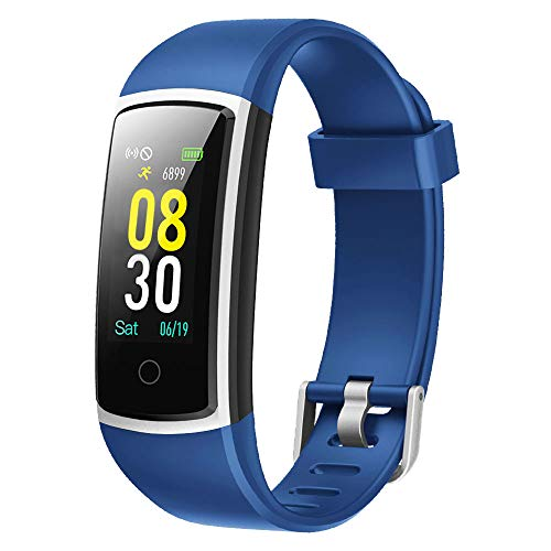 YAMAY Fitness Armband mit Blutdruckmessung,Fitness Tracker mit Pulsmesser Wasserdicht IP68 Fitness Uhr Blutdruck Messgeräte Pulsuhr Schrittzähler Smartwatch für Damen Herren Anruf SMS SNS Beachten