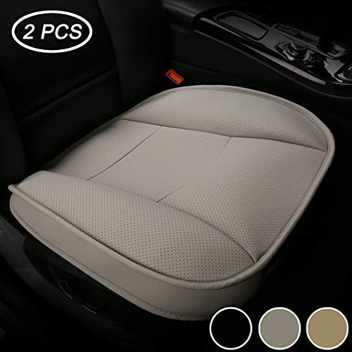 Luollove coprisedili universale auto anteriori super soft confortevole traspirante pu protezione per sedile auto ((2 pezzi grigio)