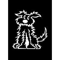 Official My Stick Figure Family Car Window Vinyl Sticker PD3 Shaggy Fluffy Dog Small