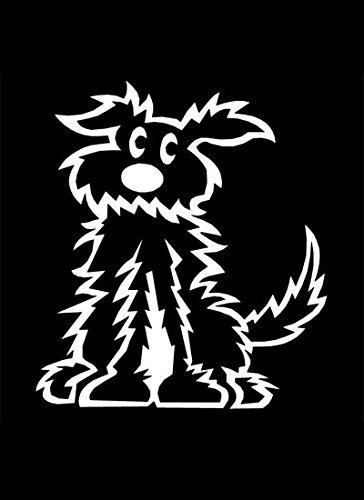 My Stick Figure Family - Mis Pegue la figura familia de coches pegatina de vinilo ventana pequeño peludo perro PD3