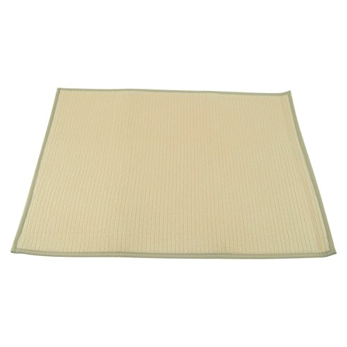 Primeway Super Absorbent Microfiber Dish Drying Mat, 18x24 Inch, Cream