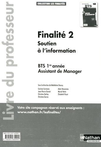 Finalité 2 - Soutien à l'information BTS 1re année