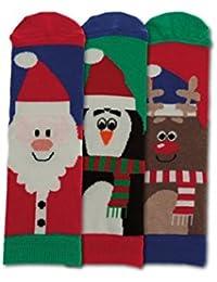 Childs Novelty Christmas Oddsocks 3 Festive Xmas Oddsocks - Santa