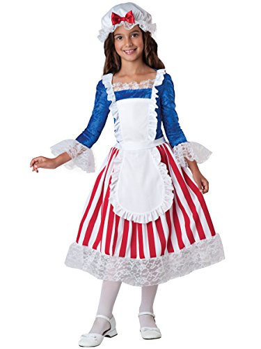InCharacter Betsy Ross Patrotic American Costume L