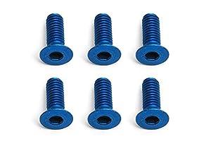 Team Associated ae8553-ft Screws, fhcs, Aluminum, vehículos, 3x 8mm, Azul