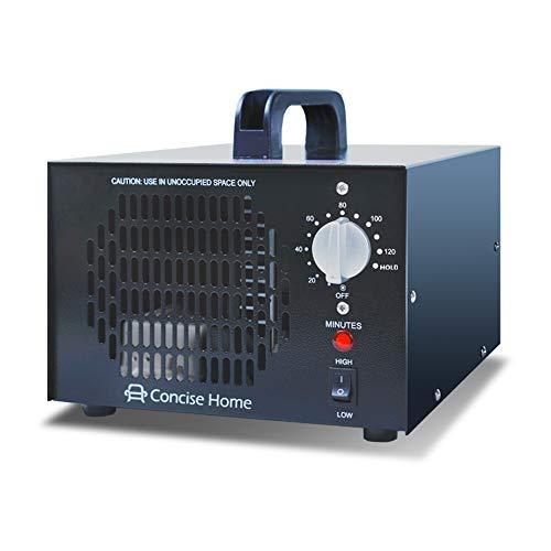 Concise Home Kommerzieller Ozonisator 7000mg 03, industrieller Ozon Luftreiniger, schwarz, Luftverbesserer, Luftsterilisator Ozone Generator