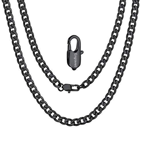 ChainsPro Klassische Herren Halskette 316L Edelstahl Silber Sterlingsilber O Kette Panzerkette ohne Anhänger Herrenschmuck 14