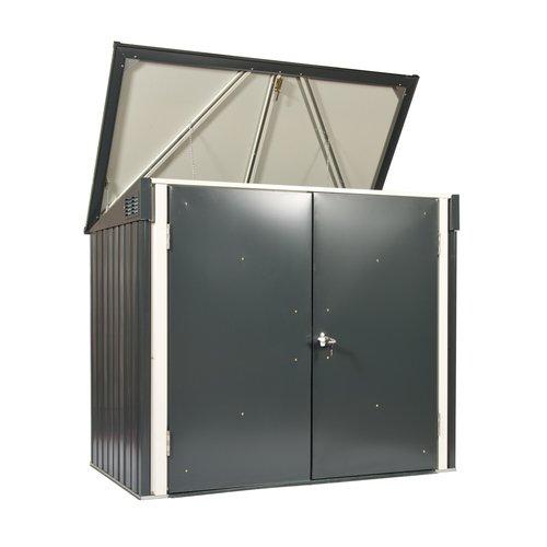 Tepro Mülltonnenbox, anthrazit / weiß, 154.2 x 96 x 130.5 cm - 4