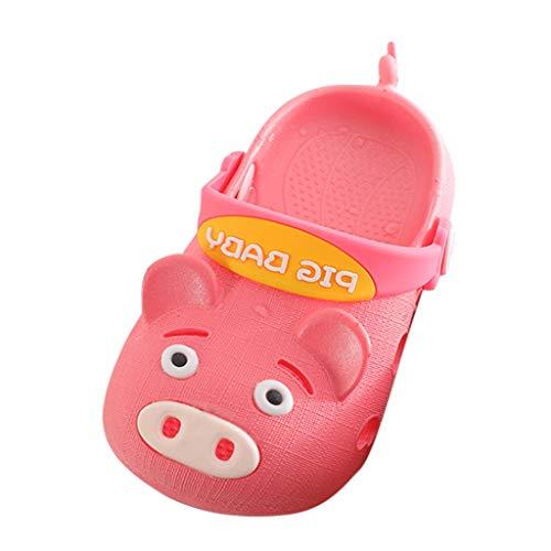 r Tragen Sommerschuhe Süße Niedliche Schwein Cartoon Strand Sandalen Hausschuhe Flip Schuhe Freizeitschuhe Baby Lauflernschuhe Kleinkind Schläppchen(Wassermelonenrot,24.5 EU) ()