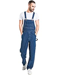 0b77f28f122 Uskees Mens Relaxed Fit Denim Dungarees - Stonewash Value Overalls  Dungarees MENSVALUESW