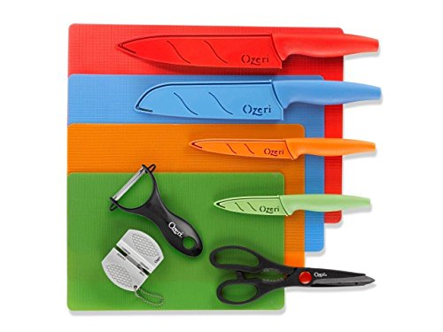 Ozeri Elite Chef 15tlg Edelstahl Messer & Schneidematte Set, in Farbe - Chef Global Messer Set