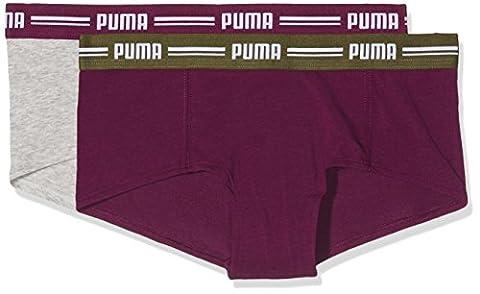 Puma Women's, Womens, Iconic Mini Shorts 2P, dark purple/Grey