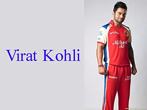 MYIMAGE Poster Paper Virat Kohli RCB (31 cm x 46 cm x 31 cm, Red)  available at amazon for Rs.190