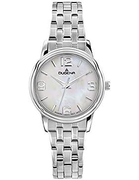 Dugena Damen-Armbanduhr Traditional Classic Analog Quarz Edelstahl 4460626