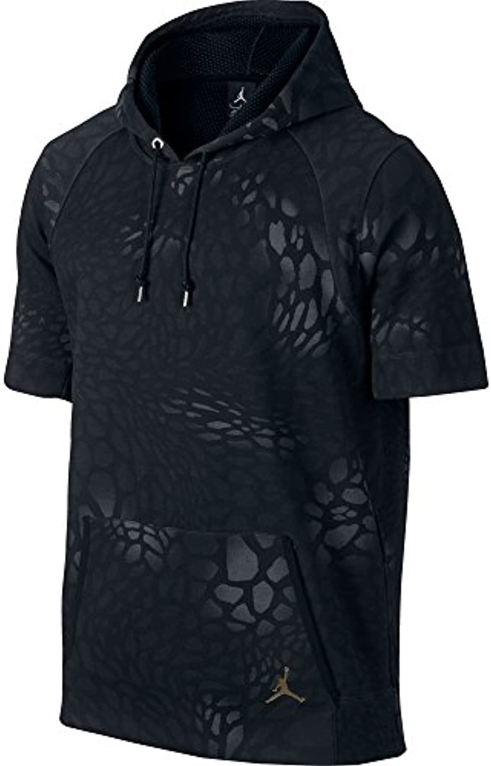 Jordan XXX Blackcat Short Sleeve Men's Hoodie Black/Metallic Cacao 706565 010
