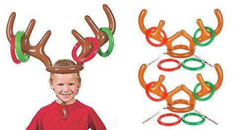 s Rentiergeweih für Weihnachten, Party, 2 Geweih, 8 Ringe ()
