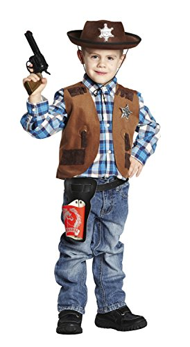 NEU Kinder-Kostüm Sheriff-Weste, braun, Gr. 128